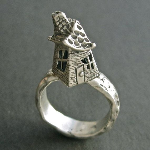 Hey, I found this really awesome Etsy listing at https://www.etsy.com/listing/212797730/house-ring-fairy-crooked-house-ring