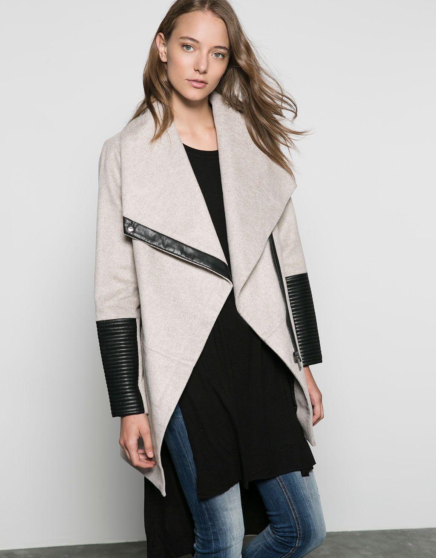 Sobretudo Bershka La Detalhe Couro Sintetico Sobretudos E Blusoes Bershka Portugal Coat Jackets Coats Jackets [ 1313 x 1024 Pixel ]