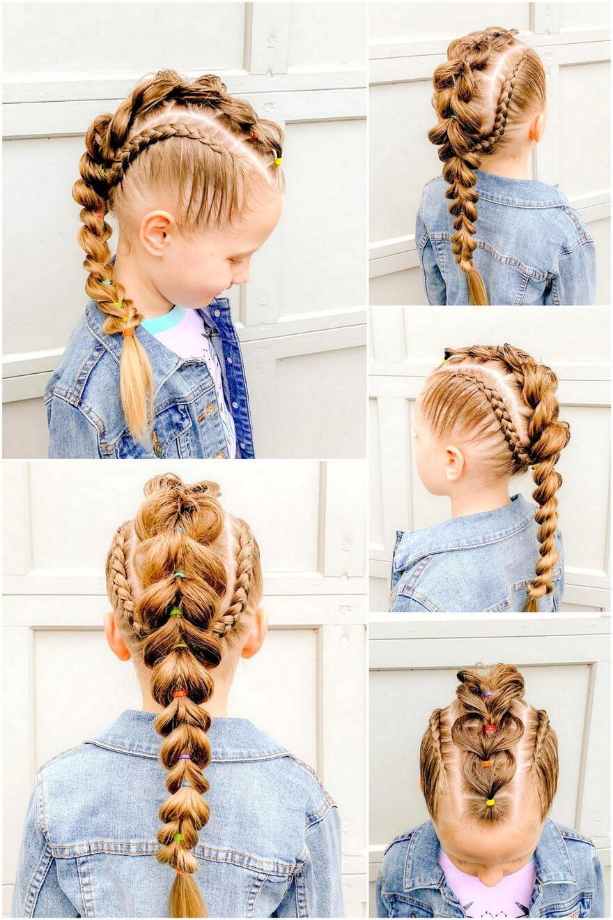 This Long Braid Chain Is A Remarkable Yet Simple Approach To Keep Your Little Girl S Hair Out Of Her Face Kids Hairstyles Toddler Hair Little Girl Hairstyles