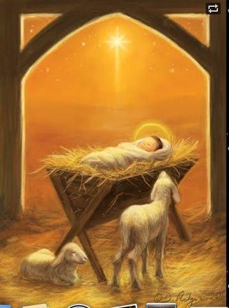 Lamb And Manger Christmas Jesus Christmas Art Christmas Nativity