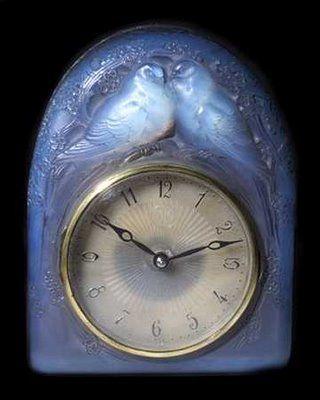 Two Turtle Doves - René Jules Lalique clock