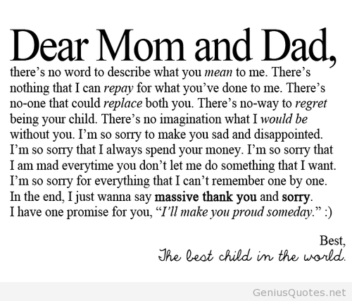 Dear Mom And Dad Drawings Dad Quotes Dear Mom Dad Dear Mom
