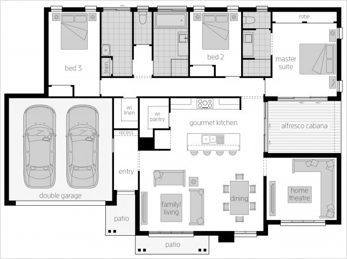 Cambridge Floor Plan By Mcdonald Jones Container House Plans House Design Floor Plans
