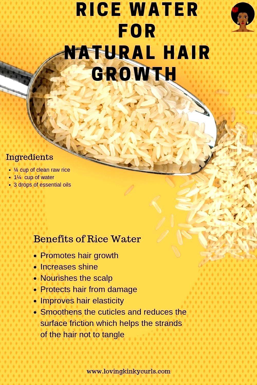 Eau de riz pour la croissance naturelle des cheveux   - natural hair Eau de riz pour la croissance