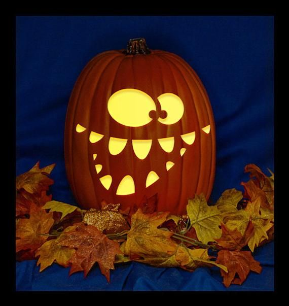 Jack-O 80 - Hand Carved on a Foam Pumpkin - Plug in light with Switch included. #pumpkindesigns