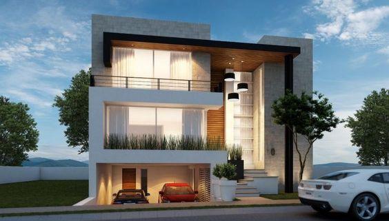 Planos de casas con estacionamiento subterraneo buscar for Casas minimalistas 2016