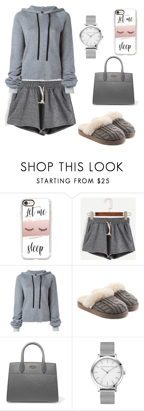 """""""#let me sleep"""" by ahk123 ❤ liked on Polyvore featuring Casetify, Unravel, UGG and Prada"""