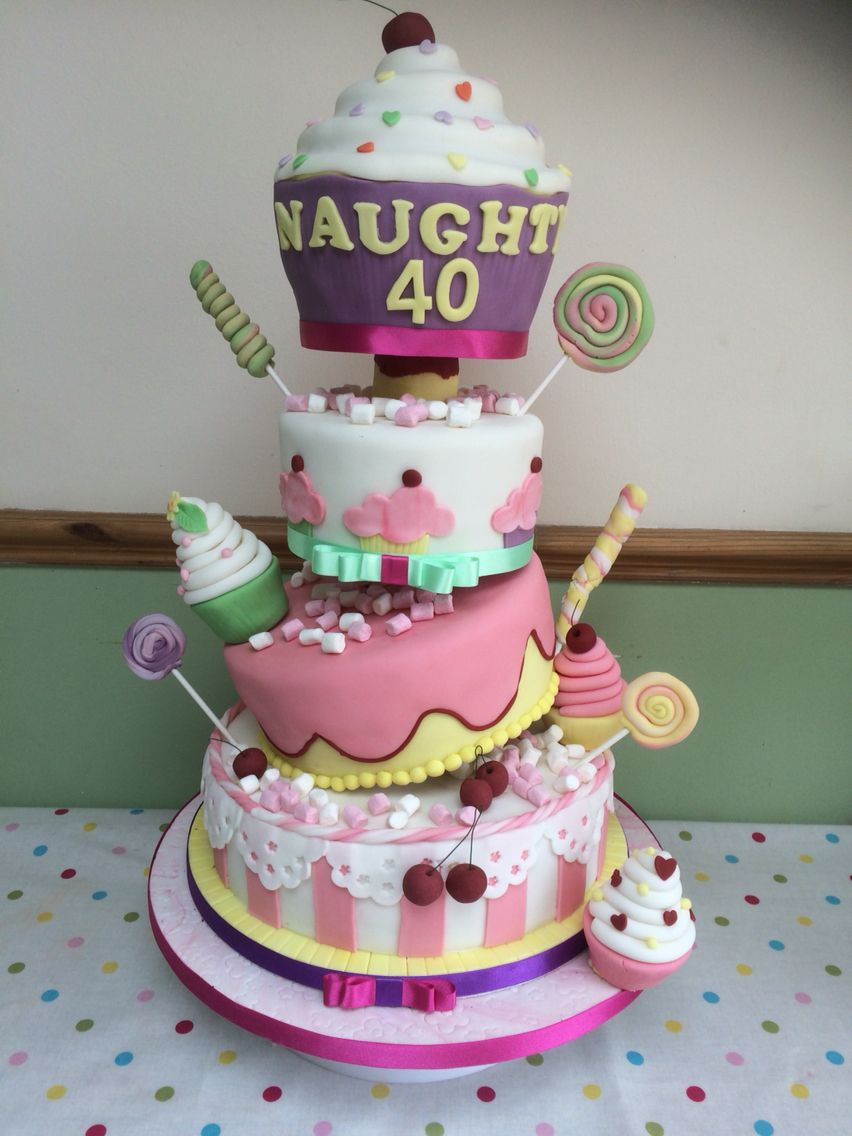 Topsy Turvy Cake Naughty 40 Cup Cakes Giant Cup Cake Cake Cake