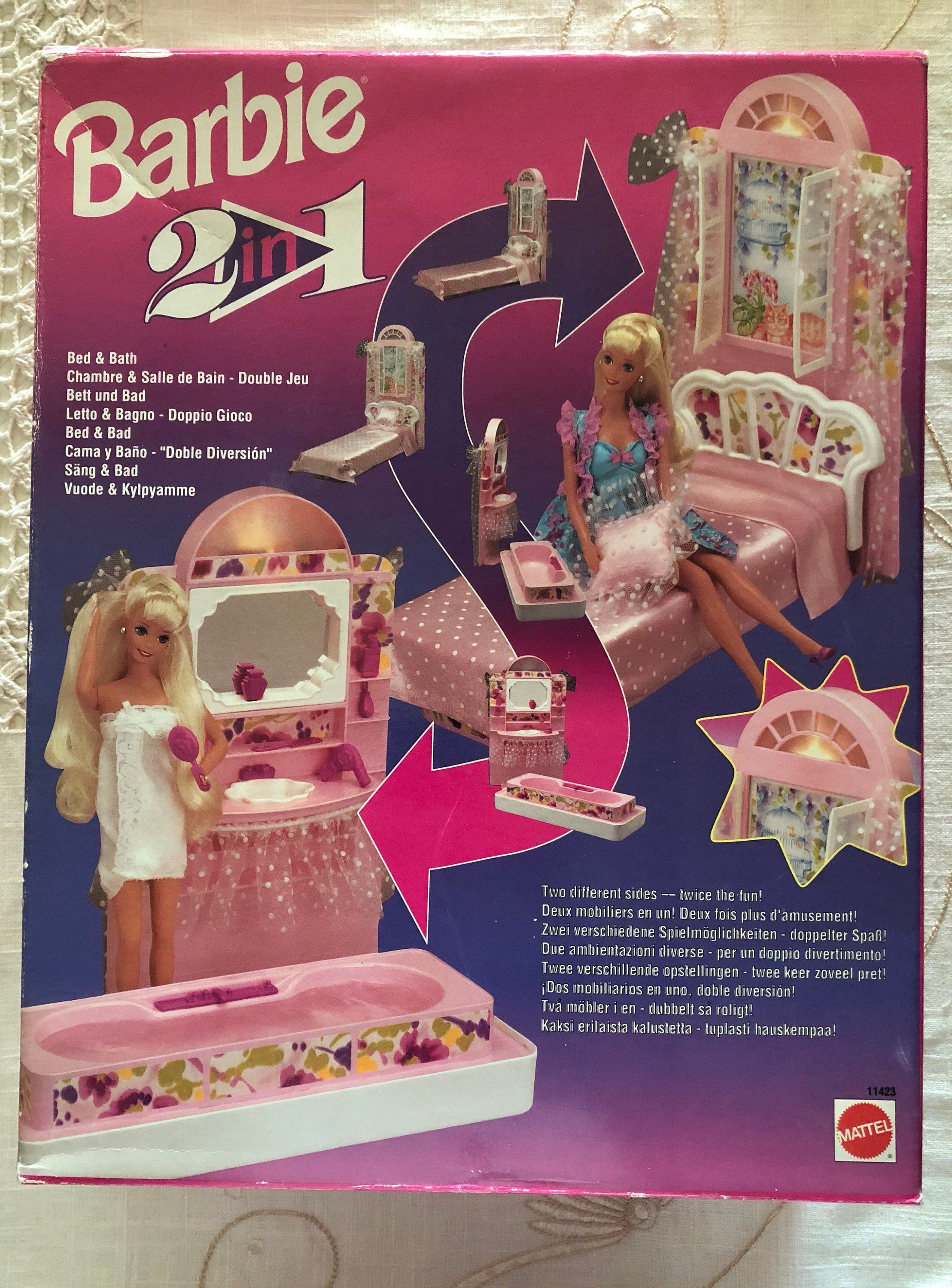 1993 BARBIE Mattel Vintage - 2 in 1 - Bed & Bath - New and Sealed in ...