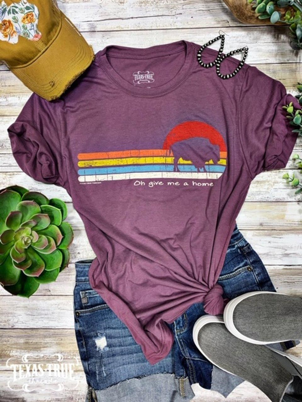 Oh Give Me A Home Graphic T-shirt - Small