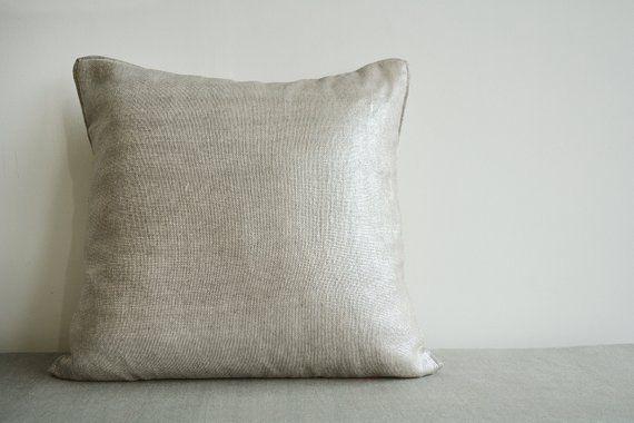 Silver Foil Metallic Pillow Cover Decorative Pillow Throw Pillow Cushion Cover Throw Pillows Decorative Pillows Pillows