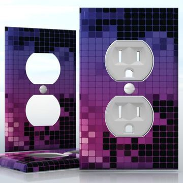 Diy do it yourself home decor easy to apply wall plate wraps diy do it yourself home decor easy to apply wall plate wraps purple mosaics solutioingenieria Gallery