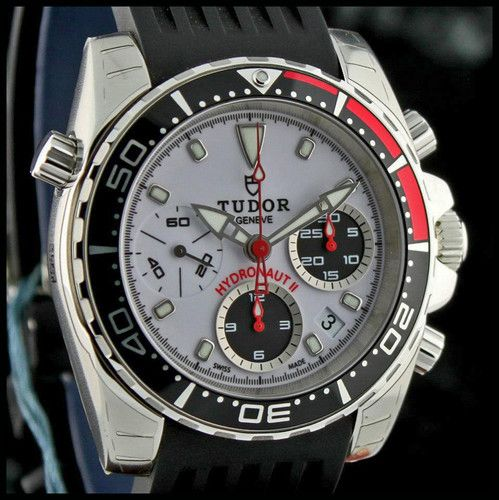 Tudor swiss by rolex hydronaut ii chronograph diver 39 s - Tudor dive watch ...