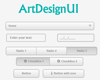 ArtDesignUI – jQuery Library to Style Web Elements #jQuery #UI