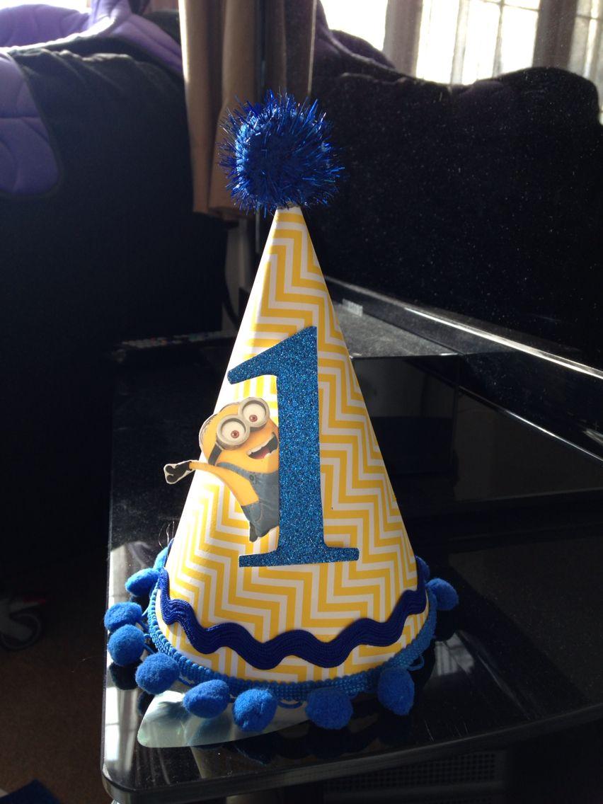 Minion birthday party hat