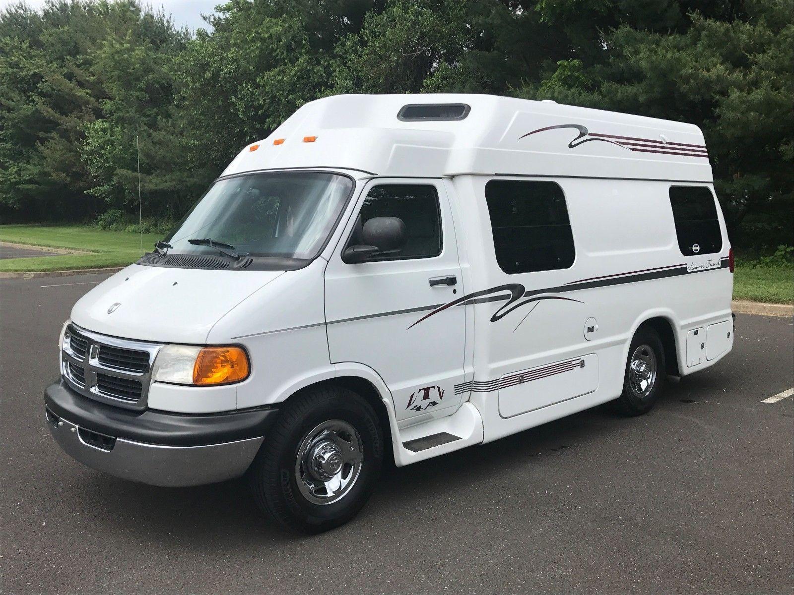 2000 Dodge Ram 3500 Leisure Travel Camper Wide Body Van Rv Class B