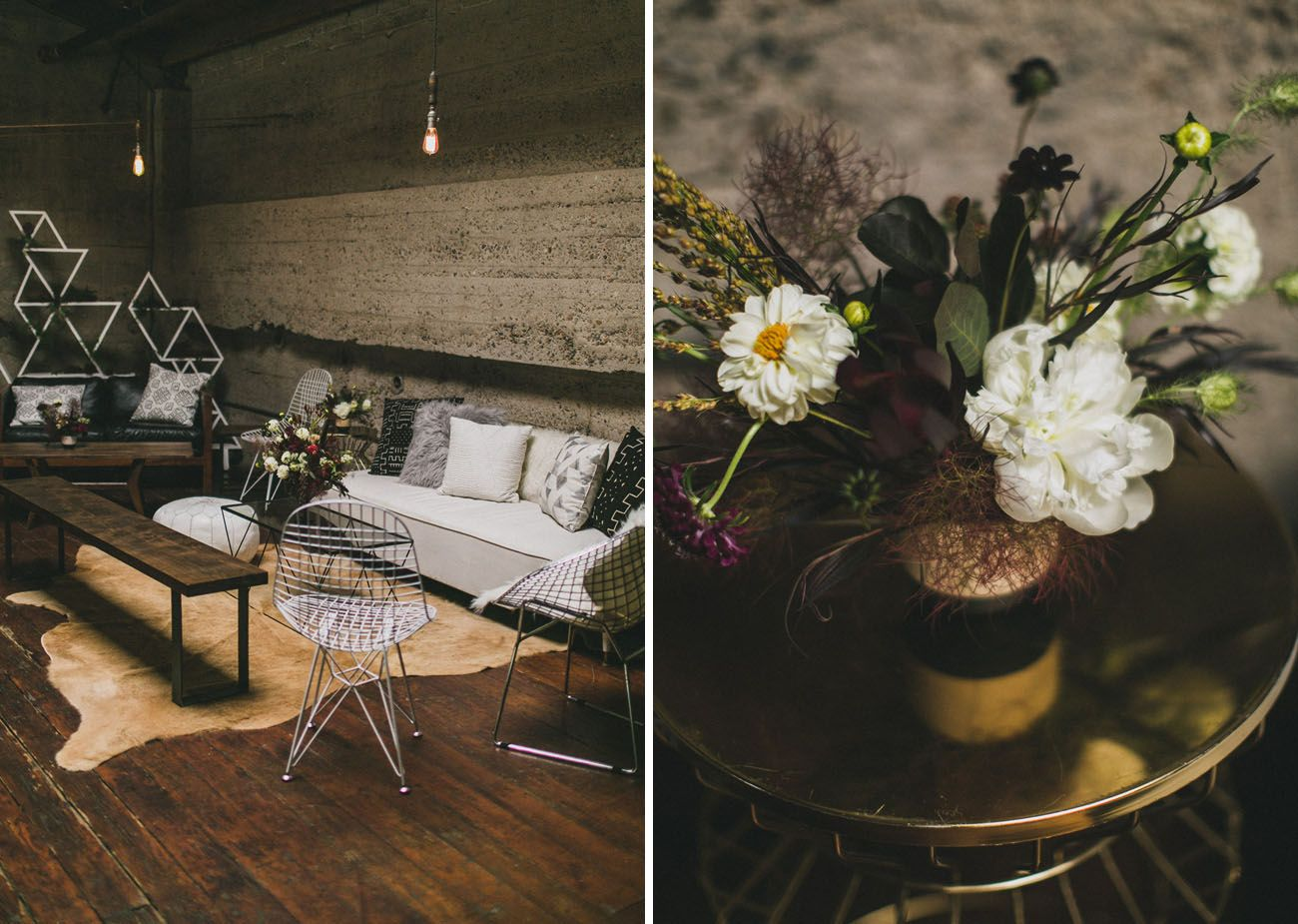 A Black + White Modern Anniversary Party | Anniversary parties ...