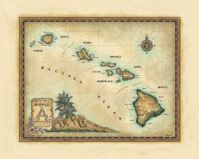 hawaiian map