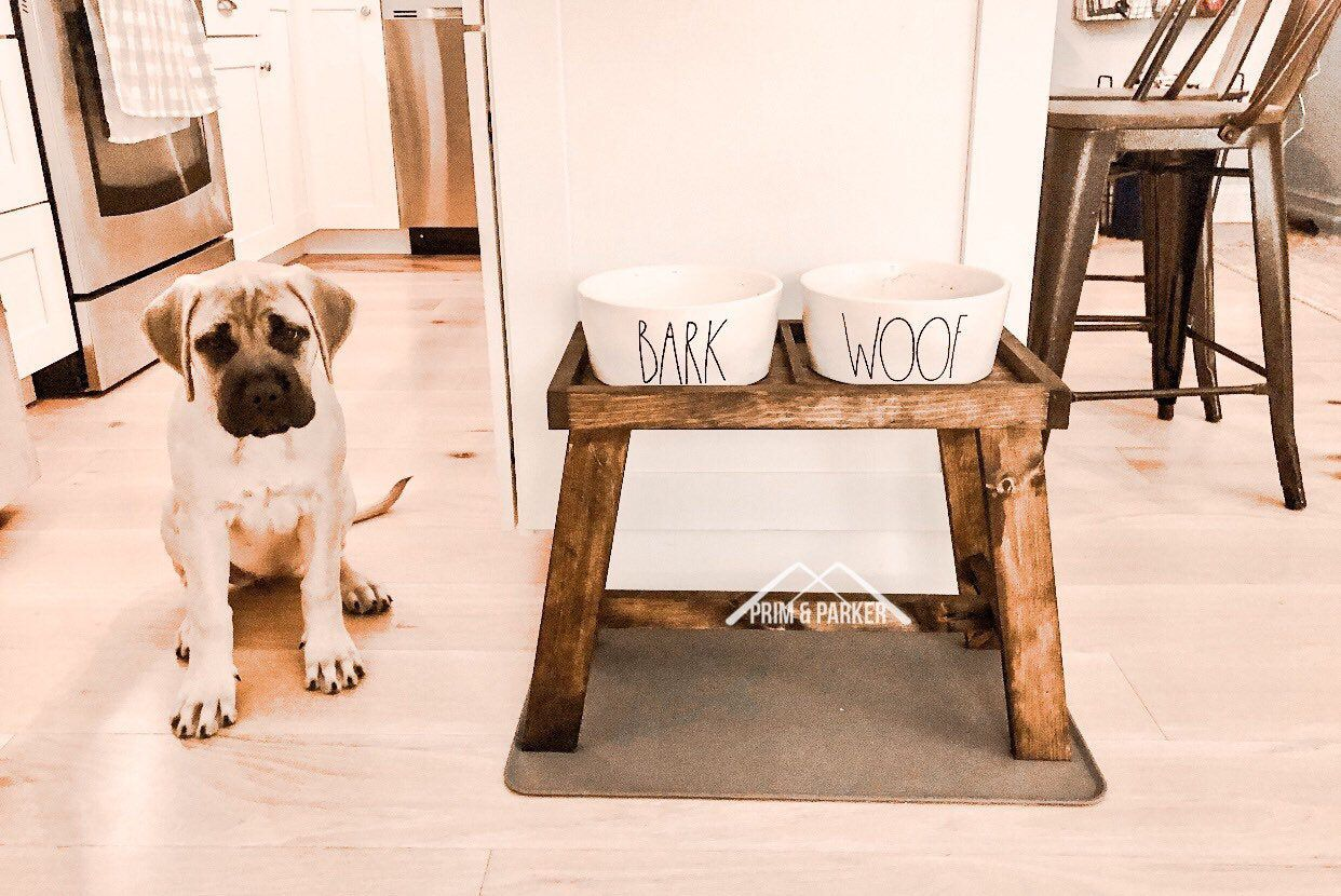 Extra large dog stand 16 inch tall dog bowl elevated dog