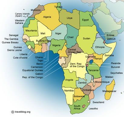 Map Of Africa With Equator.Countries On The Equator Travelblog Org Africa Maps Africa Map