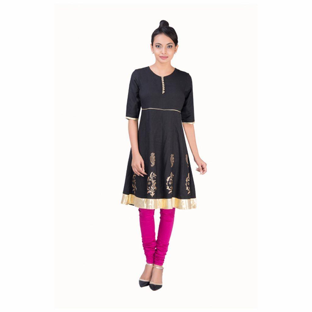 Parinita black kurta kurti pinterest kurti wardrobes and printing