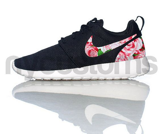 Shoes:    The base shoe used is the Nike Rosherun Black / White / Volt.    We can customize on any base of Nike Rosherun base youd like. You are not