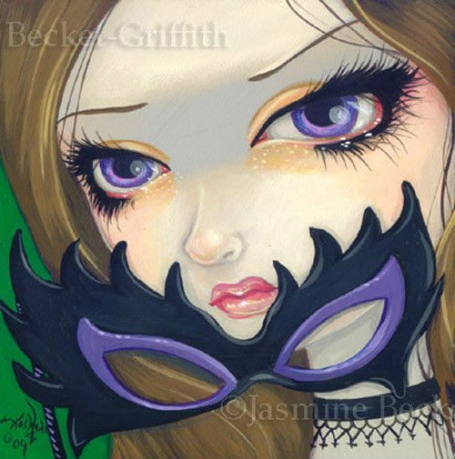 Fairy Face 40 Jasmine Becket-Griffith Fantasy Masquerade Mask SIGNED 6x6 PRINT