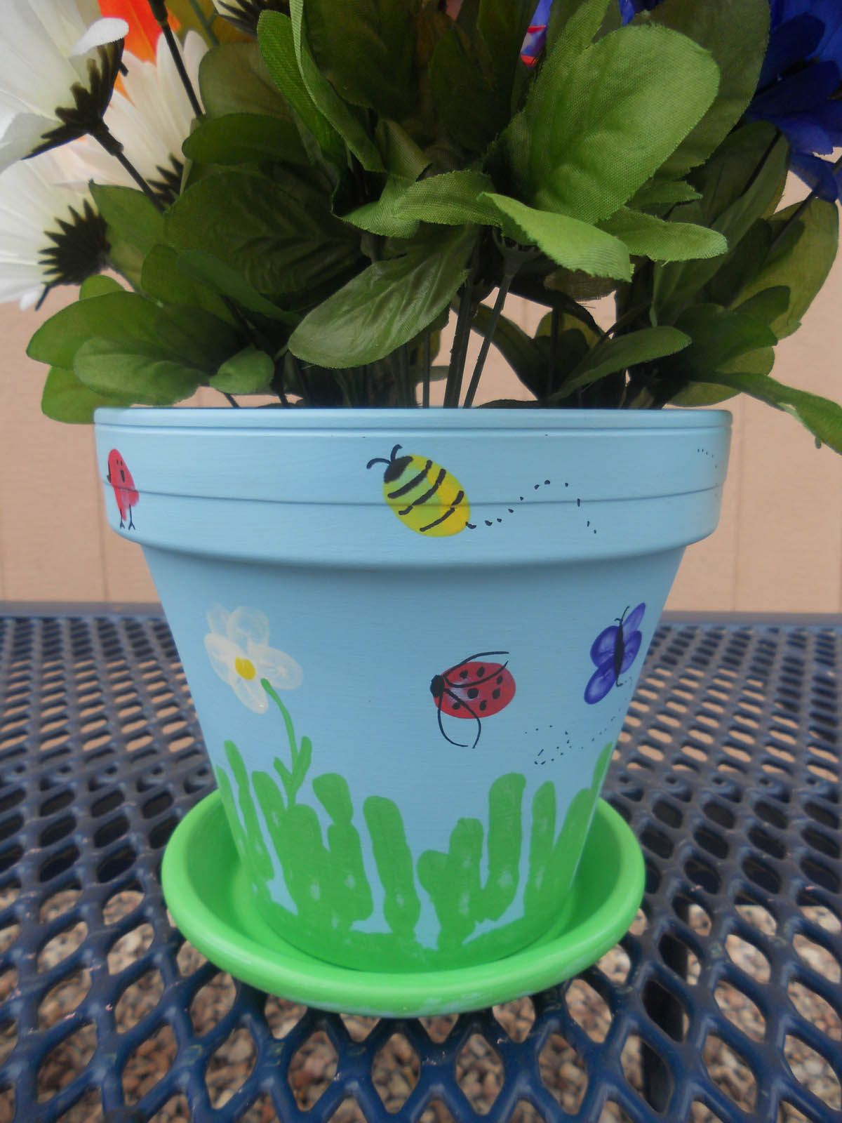 DIY Teacher Appreciation Thumbprint Flower Pot Teacher