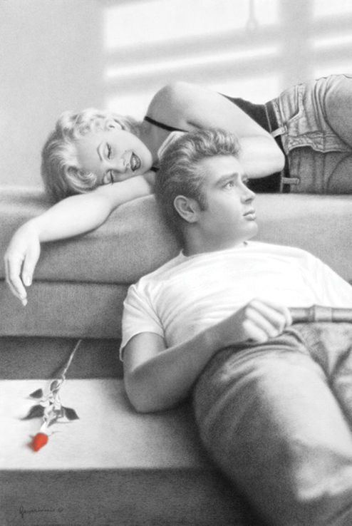Flute Song James Dean And Marilyn Monroe On A Bed With A Rose Poster 24 X 36 Art Art Post Marilyn Monroe Movies James Dean Poster James Dean Marilyn Monroe