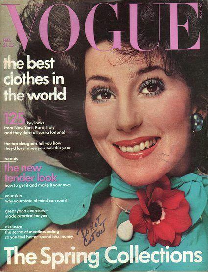 d784834a23 Vogue February 1975   Cher   Vogue covers, Vintage vogue covers, Vogue