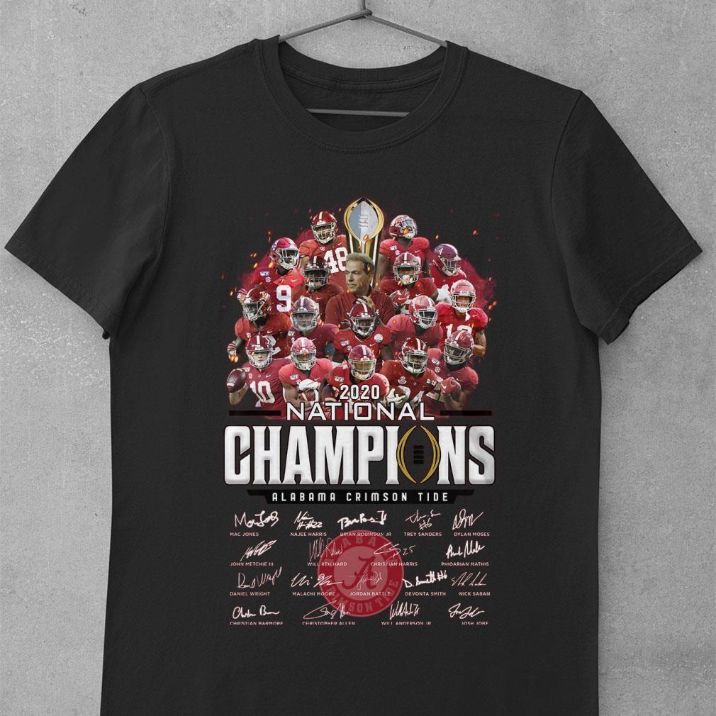 Hot Team Alabama Crimson Tide 2020 National Champions Signatures Shirt Hoodie Sweater Longsleeve T Shirt In 2021 Alabama Crimson Tide Crimson Tide Alabama Crimson [ 1010 x 1010 Pixel ]