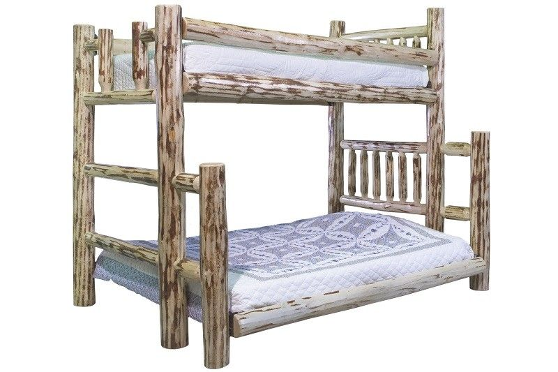 Montana Twin Top Full Bottom Bunk Bed A Twin Sized Poly Deck