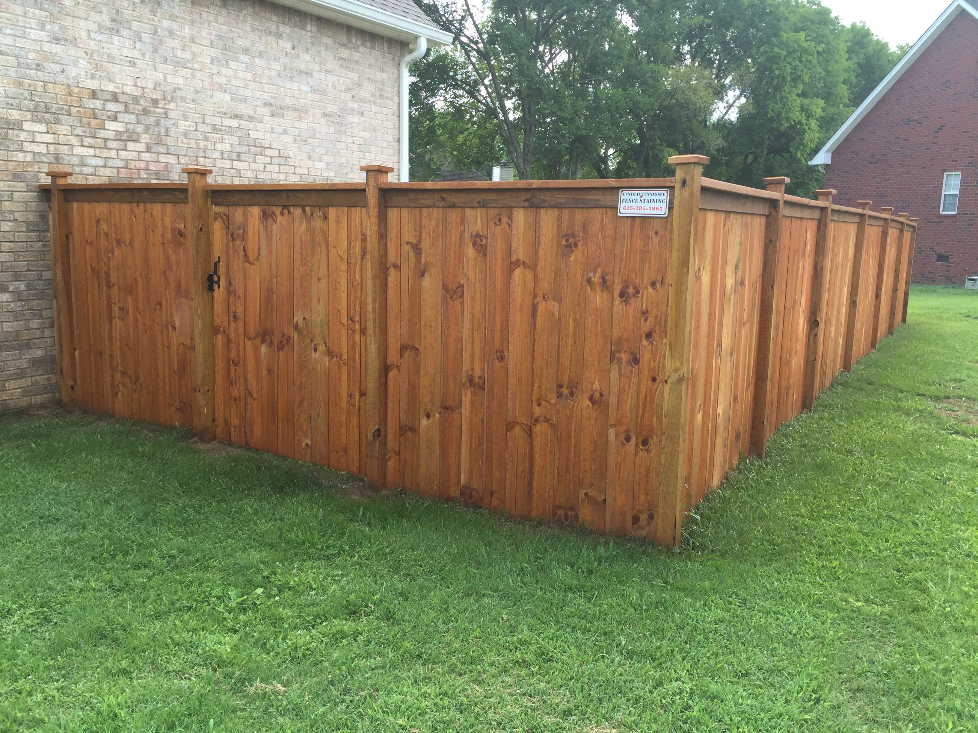 Table Top Fence Stained Cedar Tone In Murfreesboro Tn