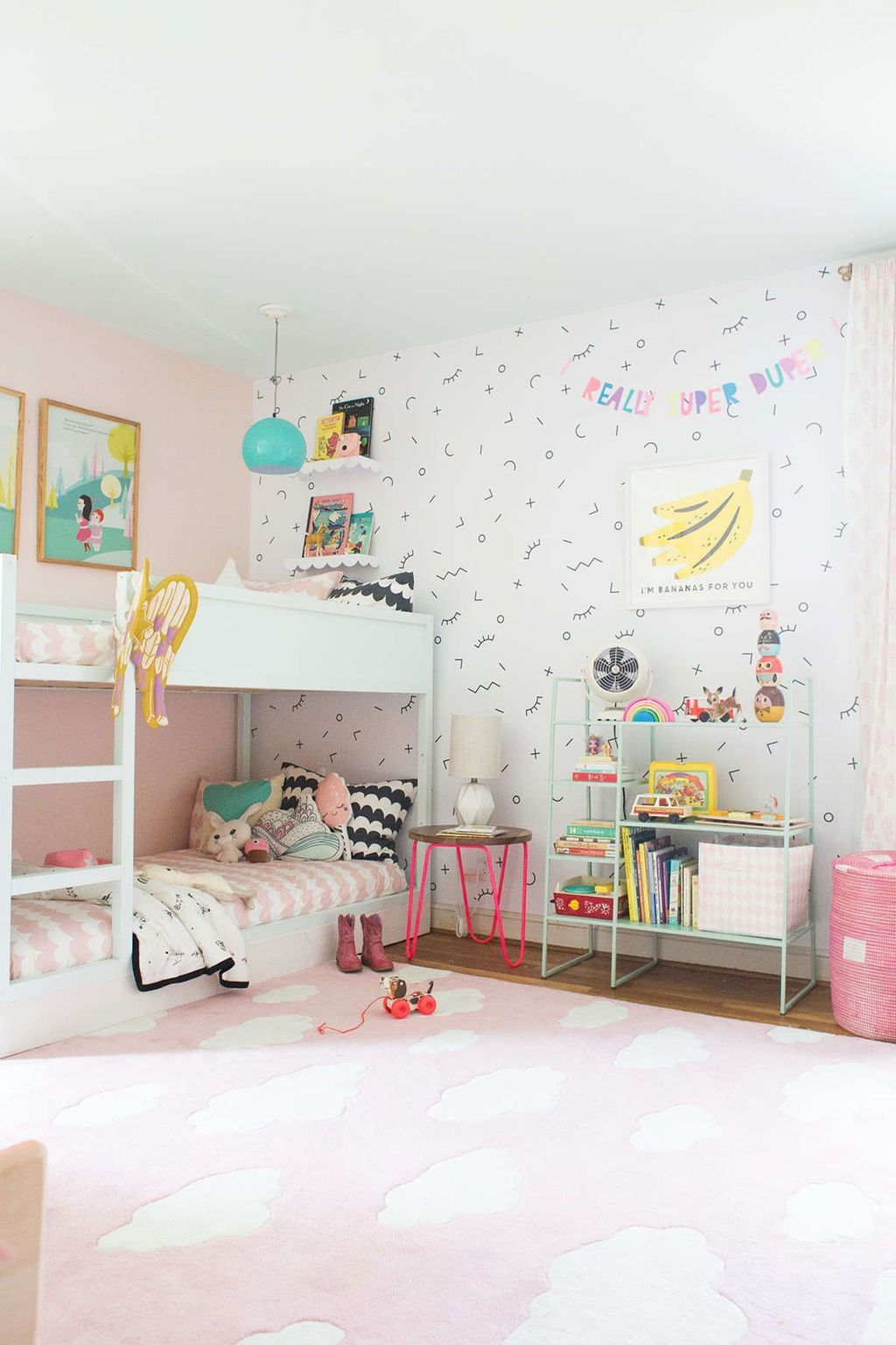 Delightful Bunk Bed Ideas For Dreamy Girl Rooms Elonahome Com Shared Girls Room Simple Kids Rooms Shared Girls Bedroom