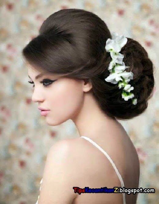 Gaya Rambut Sanggul Modern Rambut Gelung Coiffure Mariage