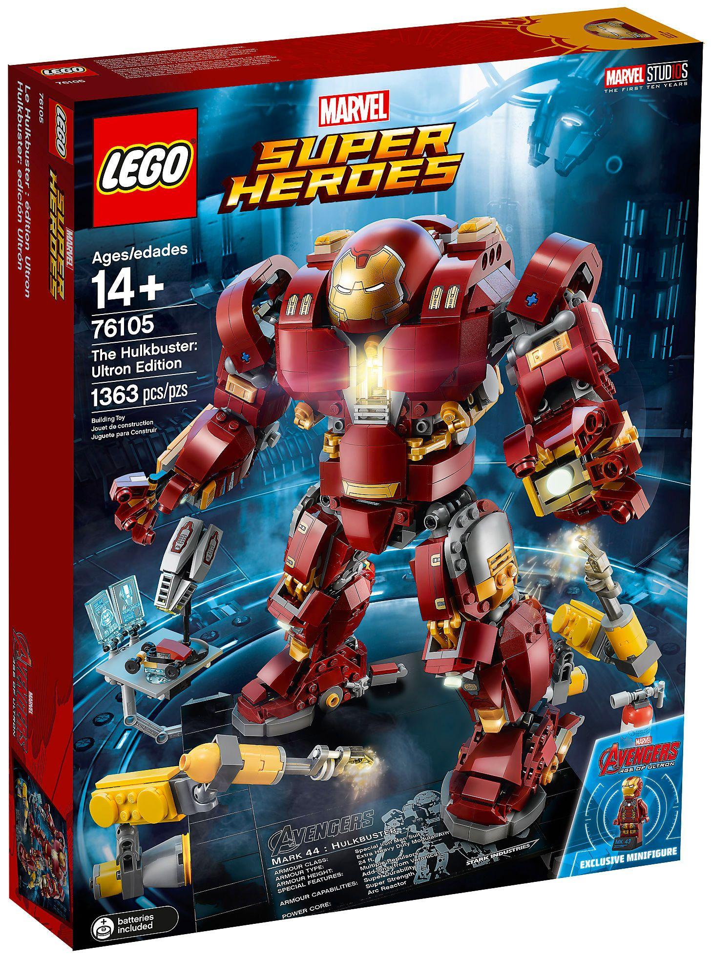 Jeu de Construction Le Combat de Hulkbuster Avengers Lego Marvel Super Heroes 76104