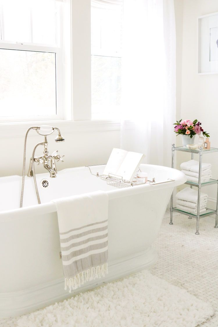If you love white decor this home will wow you master bathroom