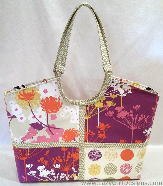 Hobo Tote featuring Piper fabric from Dear Stella. Made from Nancy ...