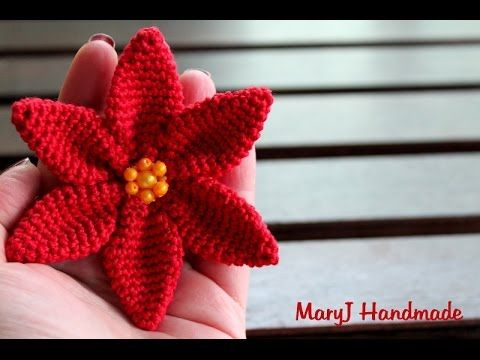 Amigurumi Tutorial Natale : Stella di natale all'uncinetto how to crochet a poinsettia