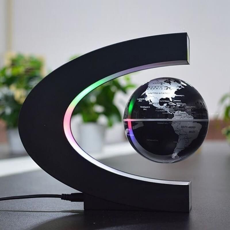 c shape anti gravity led lamp