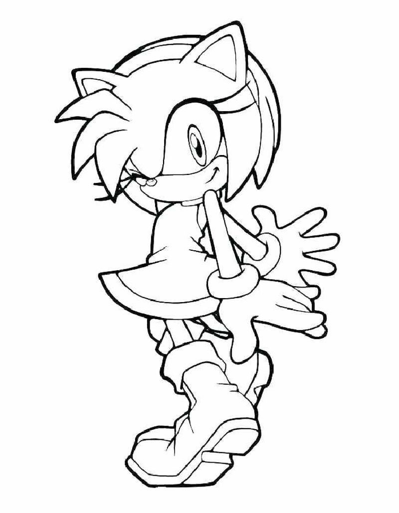Sonic The Hedgehog Coloring Pages Artesanato