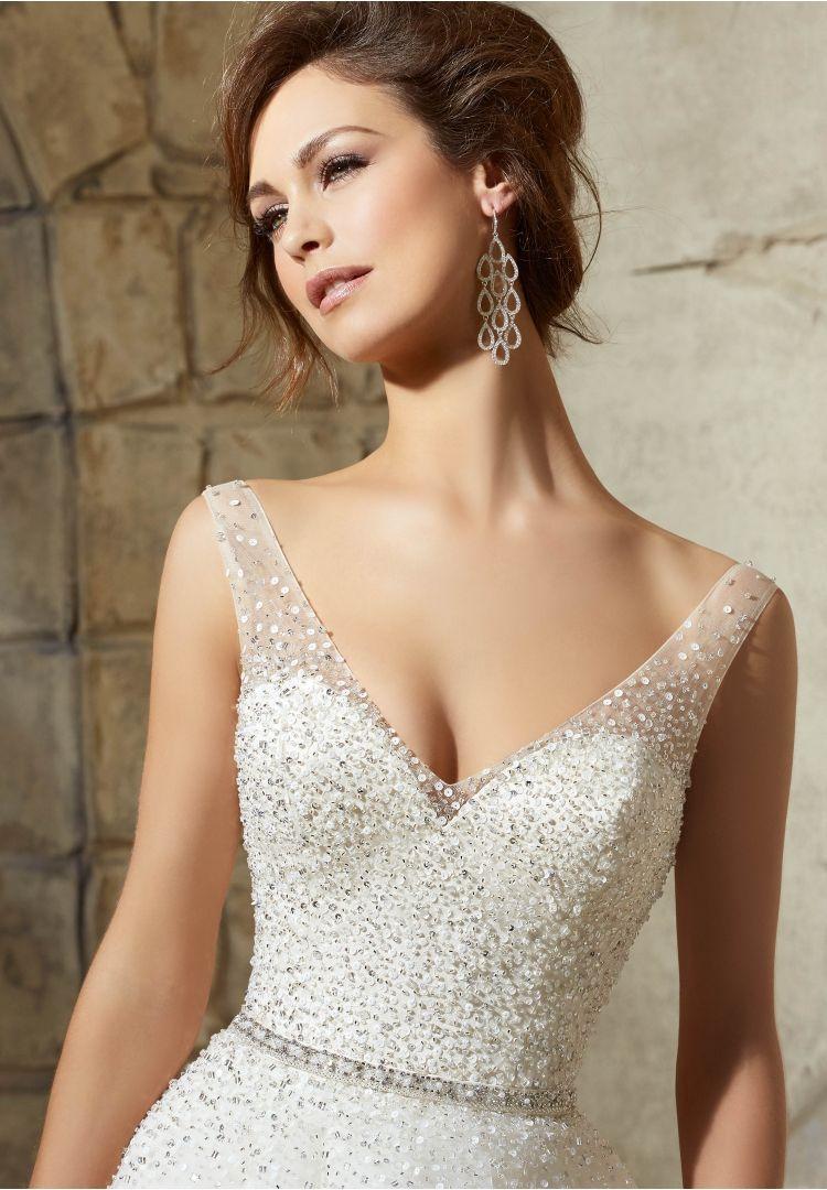 Morilee bridal perfect crystal beaded belt in 패션의상