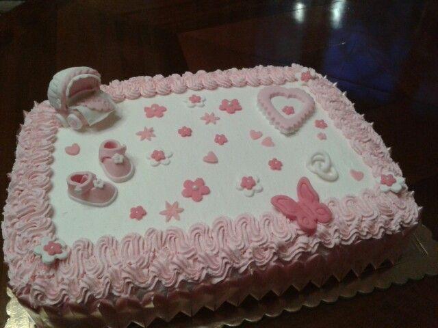Torta di battesimo con panna e pdz