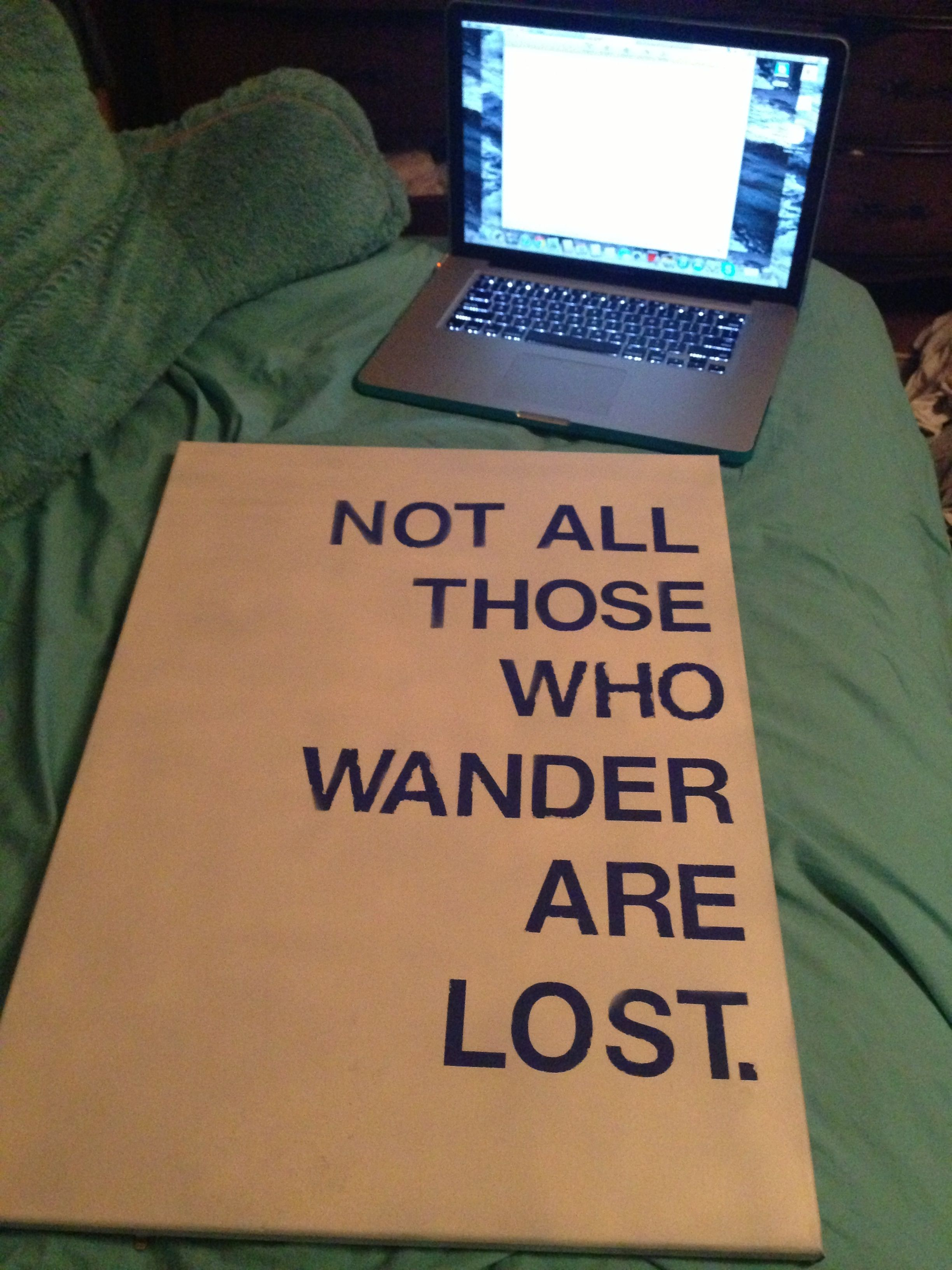 Made This For My Dorm Quote Dorm College Uiuc Diy Just Be