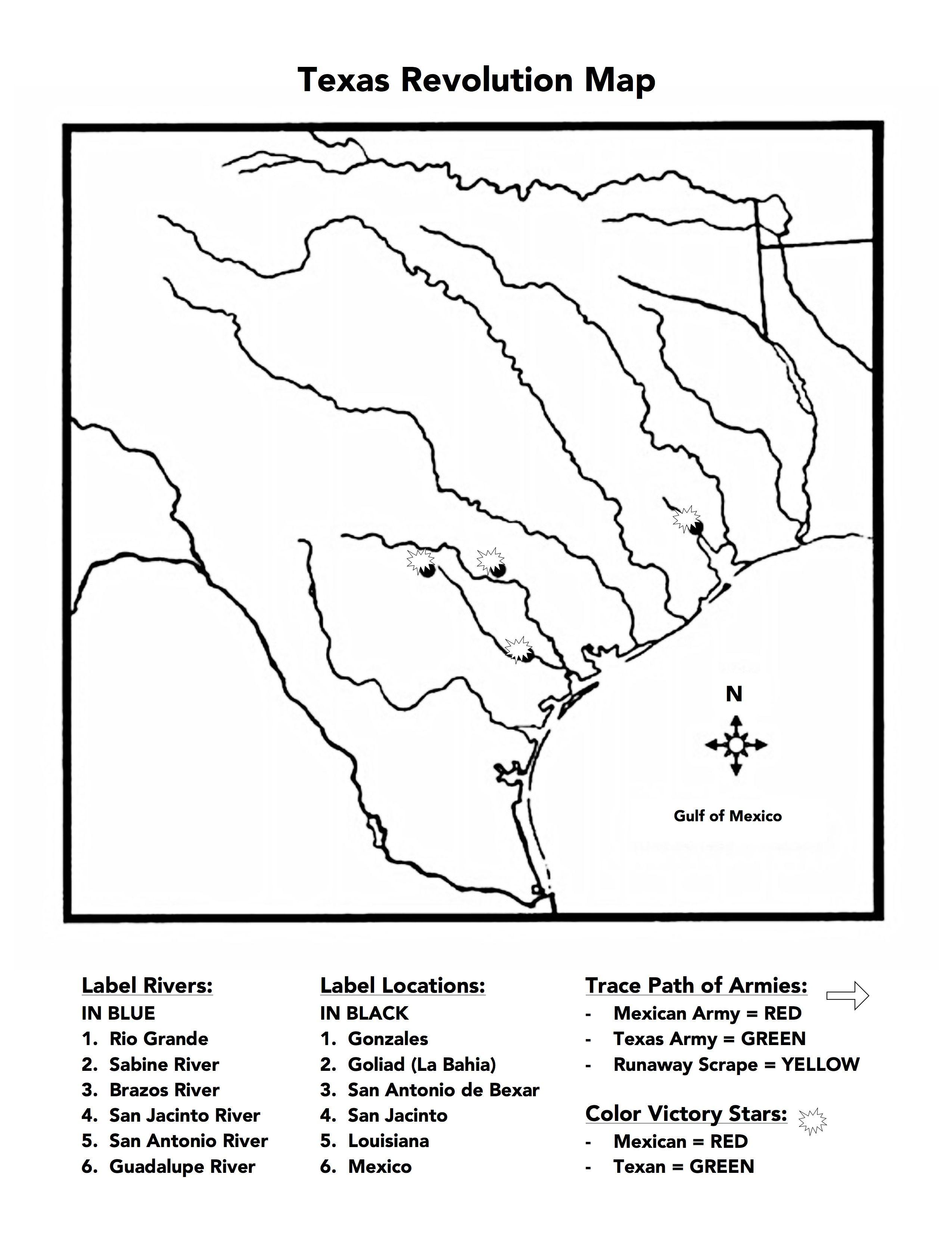 Texas Revolution Map