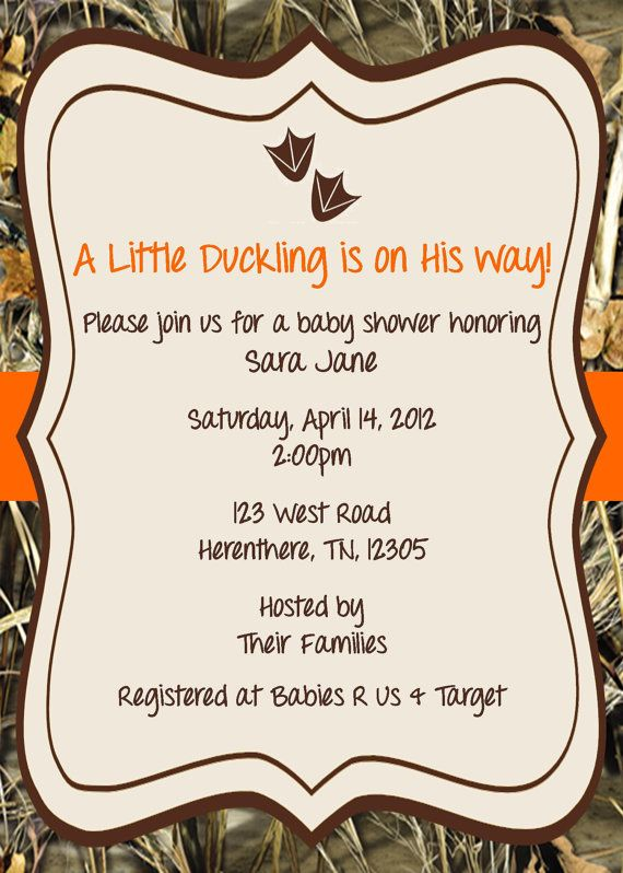 Little Duckling Baby Shower Invitation Duck By Expectedblessings