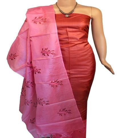 f6b2dceb41 Churidar Material:- Top in Tussar Silk , Duppata in Tussar Silk and Bottom  in Cotton Silk (Un-stitched)