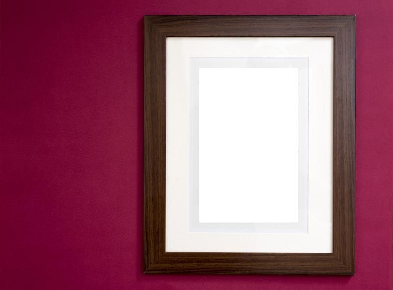 Photo or painting frame in smooth glossy finish with blank area for ...