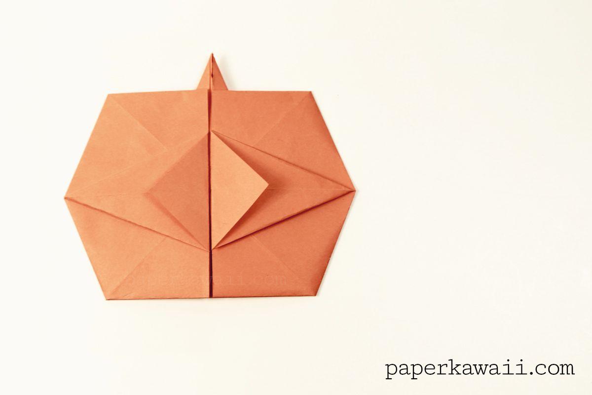 Origami bamboo letterfold folding instructions - Origami Pumpkin Tato Video Tutorial