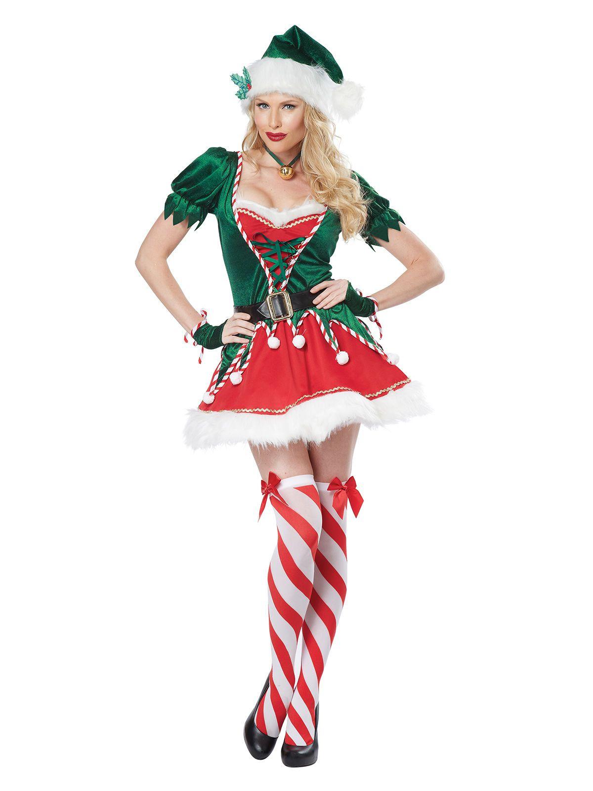 bcbe5d0de0eda Déguisement elfe de Noël sexy femme   Ce déguisement sexy de lutin de Noël  pour femme